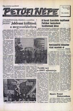 Petőfi Népe, nº 64, 18/03/1969, p. 1