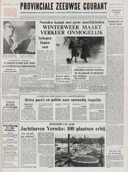Provinciale Zeeuwse Courant, nº 64, 18/03/1969, p. 1