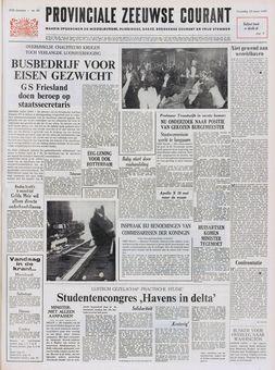 Provinciale Zeeuwse Courant, nº 65, 19 mars 1969, p. 1
