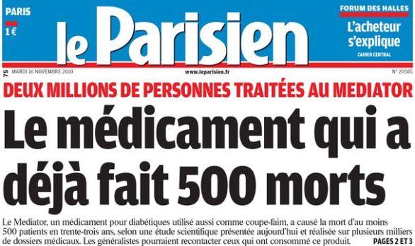 Le Parisien, nº 20585, 16/11/2010, p. 1
