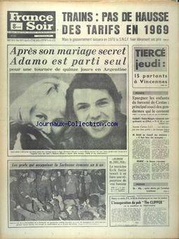 France Soir, 13/02/1969, p. 1