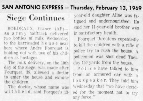 San Antonio Express, n° 104, 13/02/1969, p. 2-A