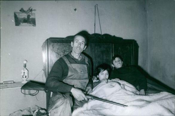André Fourquet et ses enfants, Aline et Francis