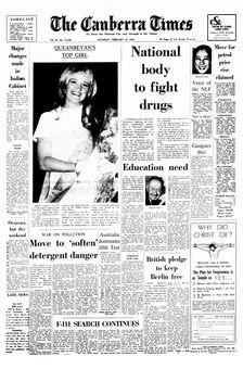 The Canberra Times, vol. 43, nº 12236, 15 février 1969, p. 1