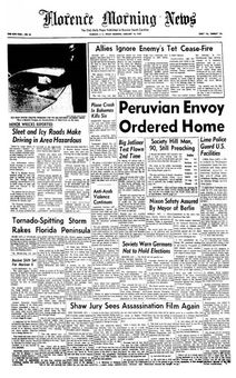 Florence Morning News, nº 45, 16 février 1969, p. 1