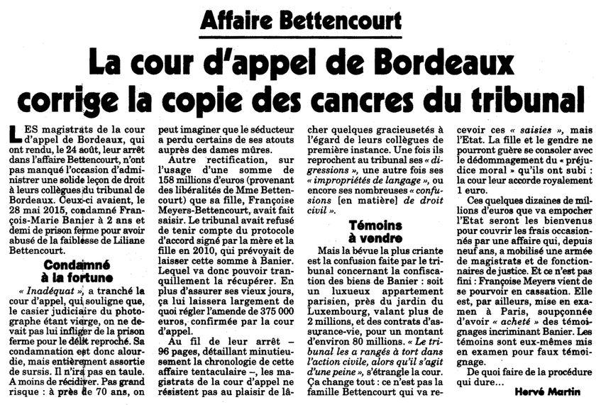 Le Canard enchaîné, nº 5001, 31/08/2016, p. 8