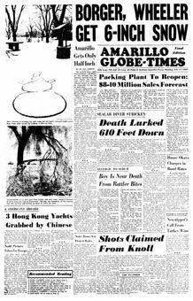 Amarillo Globe-Times, nº 239, 17 février 1969, p. 1