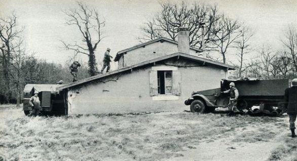Assaut de la ferme du Sayet à Cestas (© D.R.)