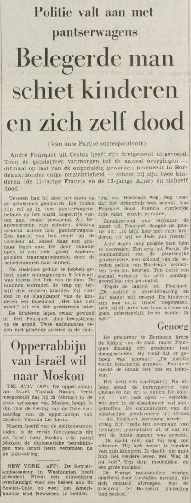 Het Vrije Volke, nº 7176, 17 février 1969, p. 3