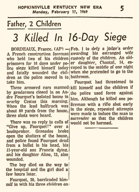 Kentucky New Era, vol. 81, nº 77, 17 février 1969, p. 5