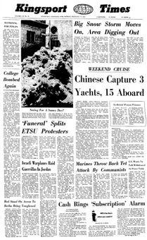 Kingsport Times, vol. LIV, nº 35, 17 février 1969, p. 1