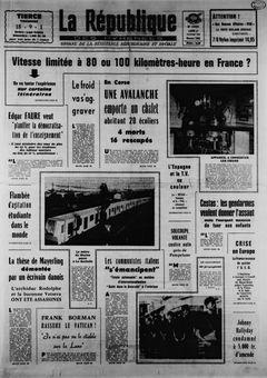 La République des Pyrénées, nº 7452, 17 février 1969, p. 1