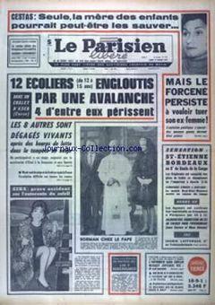 Le Parisien libéré, nº 7610, 17 février 1969, p. 1