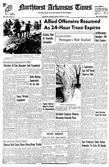 Northwest Arkansas Times, nº 209, 17 février 1969, p. 1