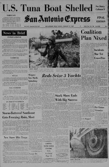 San Antonio Express, nº 106, 17 février 1969, p. 1