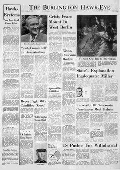 The Burlington Hawk-Eye, nº 187, 17 février 1969, p. 1