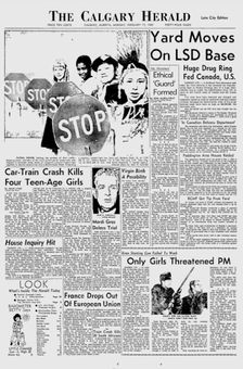 The Calgary Herald, 17 février 1969, p. 1