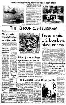 The Chronicle-Telegram, 17 février 1969, p. 1