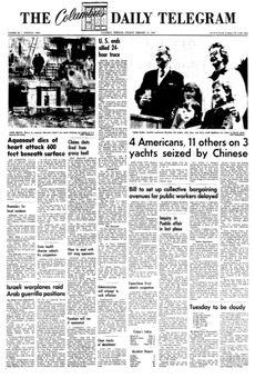 The Columbus Daily Telegram, nº 40, 17 février 1969, p. 1