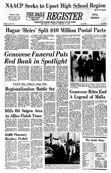 The Daily Register, Vol. 91, nº 164, 17 février 1969, p. 1