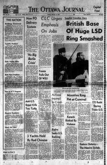 The Ottawa Journal, nº 58, 17 février 1969, p. 1
