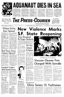 The Press-Courier, vol. 32, nº 232, 17 février 1969, p. 1