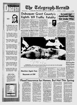 The Telegraph-Herald, nº 40, 17 février 1969, p. 1
