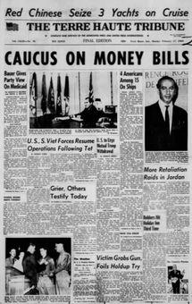 The Terre Haute Tribune, vol. CXLIX, nº 78, 17 février 1969, p. 1