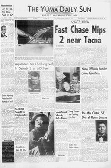 The Yuma Daily Sun, vol. 65, nº 81, 17 février 1969, p. 1