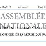 Journal officiel de la République française, édition « Débats parlementaires – Assemblée nationale », nº 38 AN (Q), 20 septembre 2016