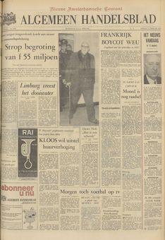 Algemeen Handelsblad, nº 45963, 18/02/1969, p. 1