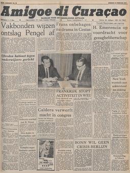 Amigoe di Curaçao, nº 41, 18/02/1969, p. 1