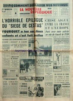 La Nouvelle République du Centre-Ouest, nº 7427, 18/02/1969, p. 1