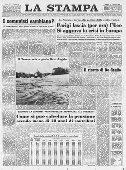 La Stampa, nº 40, 18/02/1969, p. 1
