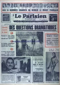 Le Parisien libéré, nº 7611, 18/02/1969, p. 1