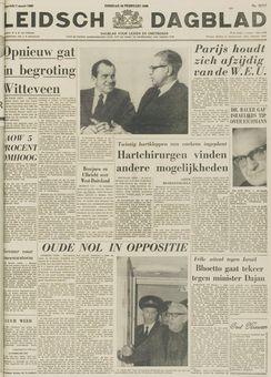 Leidsch Dagblad, nº 32717, 18/02/1969, p. 1