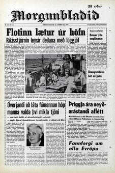 Morgunblaðið, nº 40, 18/02/1969, p. 1