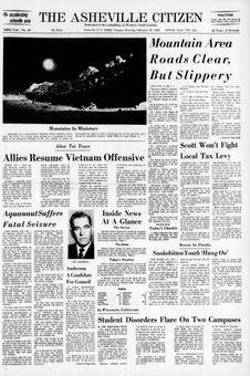 The Asheville Citizen, nº 49, 18/02/1969, p. 1
