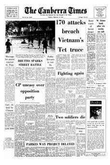 The Canberra Times, vol. 43, nº 12238, 18/02/1969, p. 1
