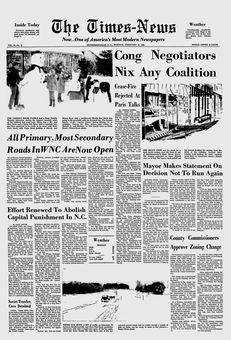 The Times-News, vol. 94, nº 41, 18/02/1969, p. 1