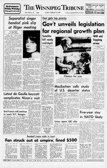 The Winnipeg Tribune, nº 42, 18/02/1969, p. 1