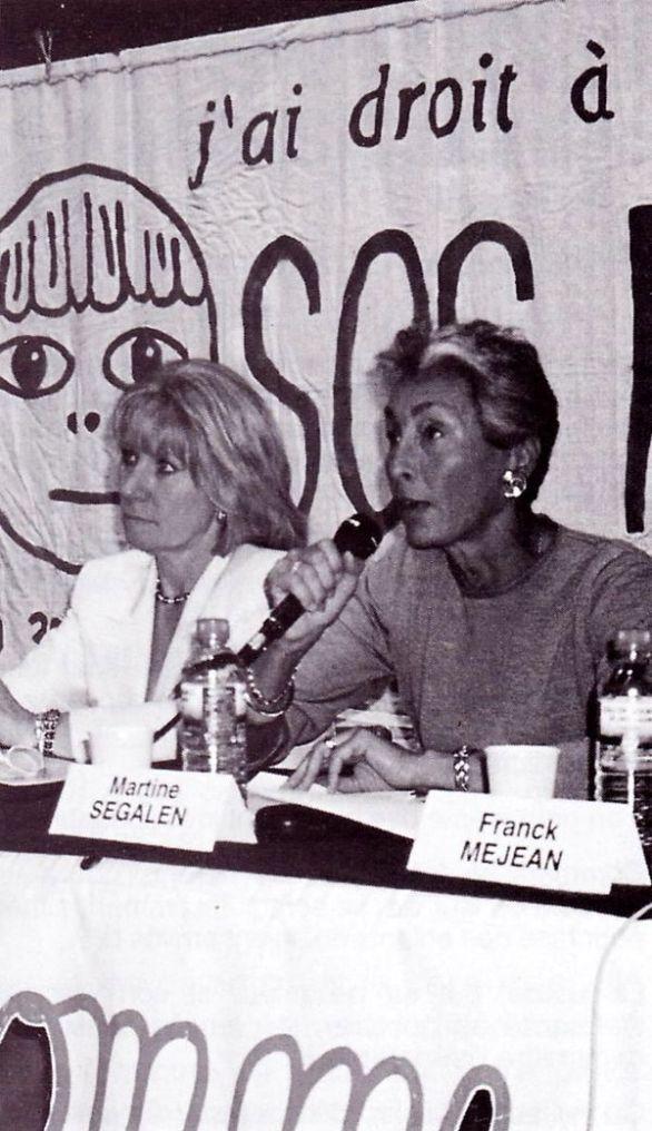 Michèle Agrapart-Delmas et Martine Segalen, colloque du septième congrès SOS PAPA, Paris, 13 juin 1998 (© SOS PAPA)