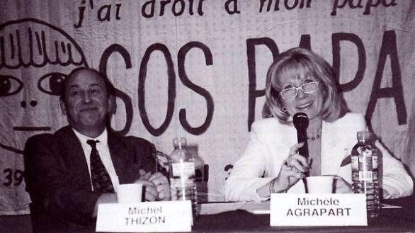 Michel Thizon et Michèle Agrapart-Delmas, colloque du septième congrès SOS PAPA, Paris, 13 juin 1998 (© SOS PAPA)