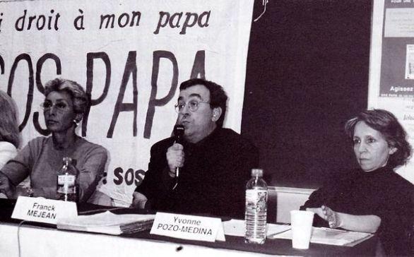 Martine Segalen, Franck Méjean et Yvonne Pozo-Medina, colloque du septième congrès SOS PAPA, Paris, 13 juin 1998 (© SOS PAPA)