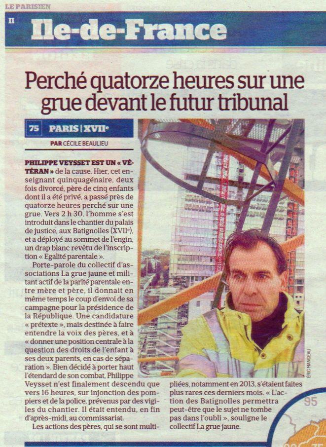 Le Parisien, nº 22441bis, 30 octobre 2016, p. II