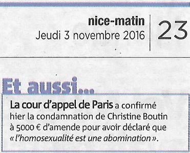 Nice Matin, nº 25048, 3 novembre 2016, p. 23