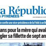 La République des Pyrénées, nº 21915, 15 décembre 2016, p. 1