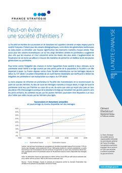Dherbécourt (Clément), « Peut-on éviter une société d'héritiers ? », La Note d'analyse, nº 51, 4 janvier 2017