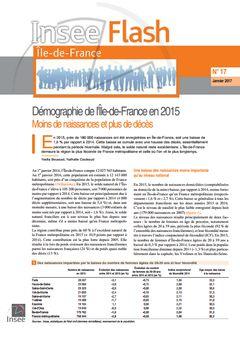 Boussad (Nadia), Couleaud (Nathalie), « Démographie de l'Île-de-France en 2015 », Insee Flash Île-de-France, nº 17, 17 janvier 2017