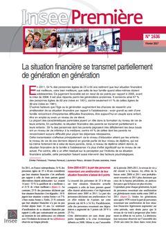 Insee Première, nº 1636, 27 février 2017
